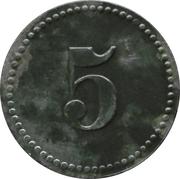 5 Pfennig - Plassenburg-Kulmbach (K. Offiziergefangenenlager) – reverse