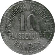 10 Pfennig - Plassenburg-Kulmbach (K. Offiziergefangenenlager) – obverse