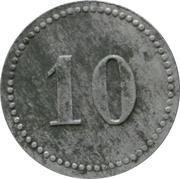 10 Pfennig - Plassenburg-Kulmbach (K. Offiziergefangenenlager) – reverse