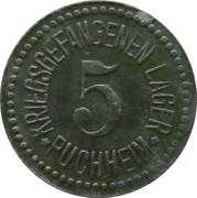 5 Pfennig - Puchheim (Kriegsgefangenenlager) – obverse