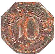 10 Pfennig (St Georgen im Schwarzwald) [Stadt, Baden] – obverse