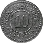 10 Pfennig - Schüren (Zeche Freie Vogel) – obverse