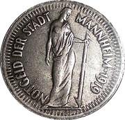 25 Pfennig (Mannheim) [Stadt, Baden] – obverse