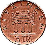 3 Mark (Kitzingen) [Stadt, Bayern] – reverse