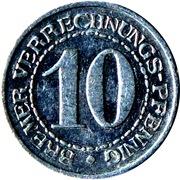 10 Pfennig (Bremen) [Stadt, Freie Stadt] – reverse