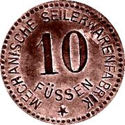 10 Pfennig (Füssen) [Private , Bayern, Mechanische Seilerwarenfabrik] – obverse