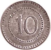 10 Pfennig (Füssen) [Private , Bayern, Mechanische Seilerwarenfabrik] – reverse