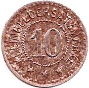 10 Pfennig (Burghausen an der Salzach) [Private, Bayern, Wacker Chemie] – reverse