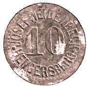 10 Pfennig (Hengersberg) [Private, Bayern, Josef Weidenbeck] – obverse