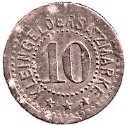 10 Pfennig (Hengersberg) [Private, Bayern, Josef Weidenbeck] – reverse