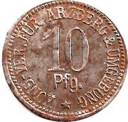 10 Pfennig (Arzberg) [Private, Bayern, Konsum-Verein] – reverse