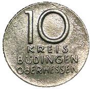 10 Pfennig (Büdingen) [Kreis, Hessen] – obverse