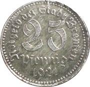 25 Pfennig (Bremen) [Stadt, Freie Stadt] – obverse