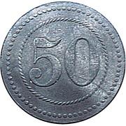 50 Pfennig (Cassel) [POW, Hessen-Nassau] – reverse