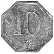 10 Pfennig (Heddernheim) [Private, Hessen-Nassau, Kupferwerk] – reverse