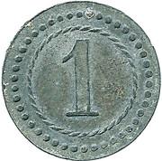 1 Pfennig Kriegsgefangenenlager IX A.K. Armee Korps Güstrow. POW CAMP – reverse