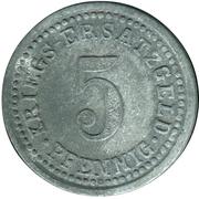 5 Pfennig (Wertheim am Main) [Stadt, Baden] – reverse