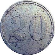 20 Pfennig (Frankfurt am Main) [Private, Hessen-Nassau, Haupt P. Bahnhof Gebr. Steinbach] – reverse