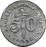 50 Pfennig (Lippe) [Handelskammer, Free State] – obverse