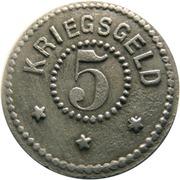 5 Pfennig (Zell im Wiesental) [Stadt, Baden] – reverse