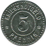 5 Pfennig (Emmendingen) [Stadt, Baden] – reverse