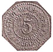 5 Pfennig (Mühlhausen in Thüringen) [Stadt, Provinz Sachsen] – obverse
