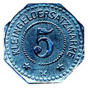 5 Pfennig (Nordhausen am Harz) [Stadt, Provinz Sachsen] – reverse
