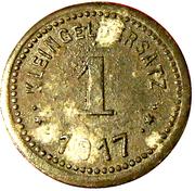 1 Pfennig (Eisleben) [Private, Provinz Sachsen, Trade Union] – reverse