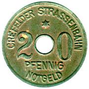 20 Pfennig (Crefeld) [Strassenbahn, Rheinprovinz] – obverse