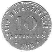 10 Pfennig (Weißenfels an der Saale) [Stadt, Provinz Sachsen] -  reverse