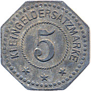 5 Pfennig (Duisburg) [Private, Rheinprovinz, Firma Peter Fix Söhne GmbH] – reverse