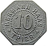10 Pfennig (Trier) [Private, Rheinprovinz, Hermann Haas] – obverse