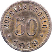 50 Pfennig (Sinzig) [Stadt, Rheinprovinz] – reverse