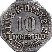 10 Pfennig (Langerfeld) [Private, Rheinprovinz, Alb. & E. Henkels] – obverse