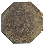 5 Pfennig (Ahrweiler) [Private, Rheinprovinz, N.Mies] – reverse