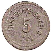 5 Pfennig (Ingolstadt) [POW, Bayern] – reverse