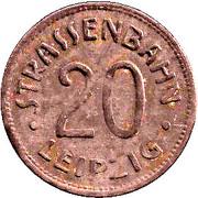 20 Pfennig (Leipzig) [Strassenbahn, Saxony] – obverse