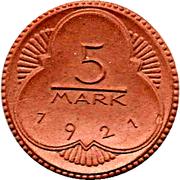 5 Mark (Altenburg) [Stadt, Sachsen-Altenburg] – reverse