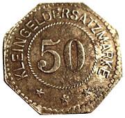 50 Pfennig (Pinneberg) [Private, Schleswig-Holstein, Bank] – reverse