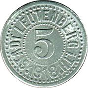 5 Pfennig (Leutenberg in Thüringen) [Stadt, Schwartzburg-Rudolstadt] – obverse