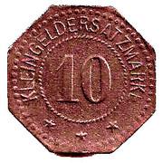 10 Pfennig (Elmshorn) [Private, Schleswig-Holstein, Kredit-Verein] – reverse