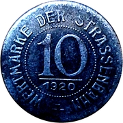 10 Pfennig (Breslau) [Strassenbahn, Silesia] – reverse