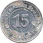 15 Pfennig (Breslau) [Strassenbahn, Silesia] – obverse