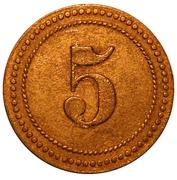5 Pfennig (Münster) [POW, Westfalen, Münster I] – reverse