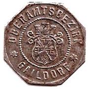 10 Pfennig (Gaildorf) [Oberamtsbezirk, Württemberg] – obverse