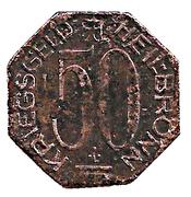 50 Pfennig (Heilbronn) [Stadt, Württemberg] – reverse