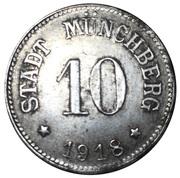10 Pfennig (Münchberg) [Stadt, Bayern] – obverse
