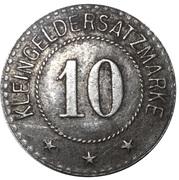 10 Pfennig (Schwarzbachen an der Saale) [Stadt, Bayern] – reverse