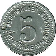 5 Pfennig (Mühlheim am Main) [Private, Hessen, Offenb. Schrauben Industrie] – obverse