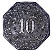 10 Pfennig (Nürnberg) [Private, Bayern, A. Herbst & M. Ostertag Baugeschäft] – obverse